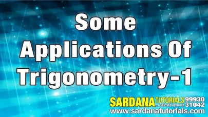 Online Videos for 10th Class Mathematics Some Applications of
