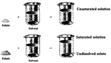 Types Of Solutions Saturated Unsaturated And Supersaturated